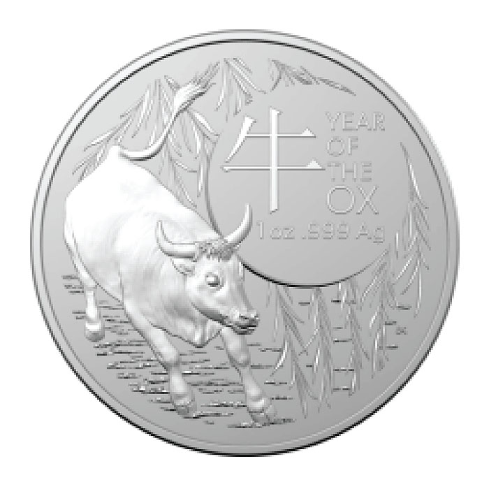 Australia 2021 - RAM Year Of The Ox Ag9999 1 Oz BU-
