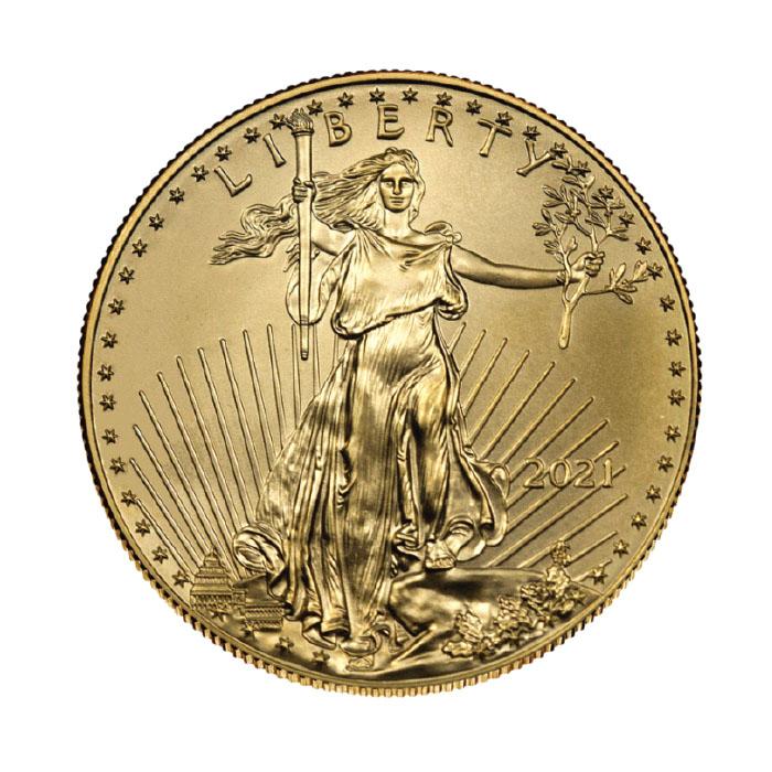 USA 2021 - American Eagle (amerykański orzeł) Au999 1 Oz