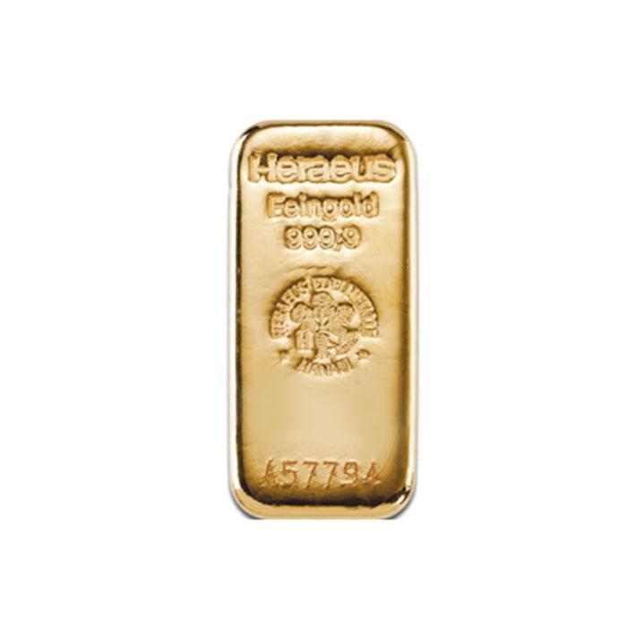 Sztabka złota odlewana 250g