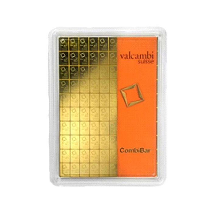Sztabka złota Valcambi - CombiBar (Multicard) Au999.9 - 100x1g