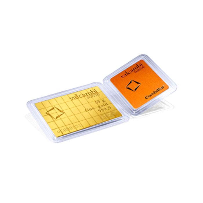 Sztabka złota Valcambi - CombiBar (Multicard) Au999.9 - 50x1g