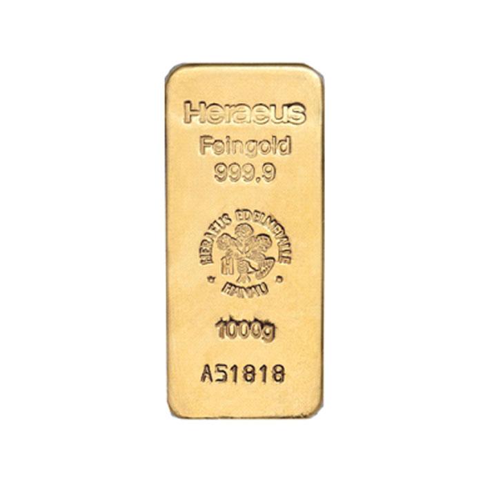Sztabka złota lana  1000g