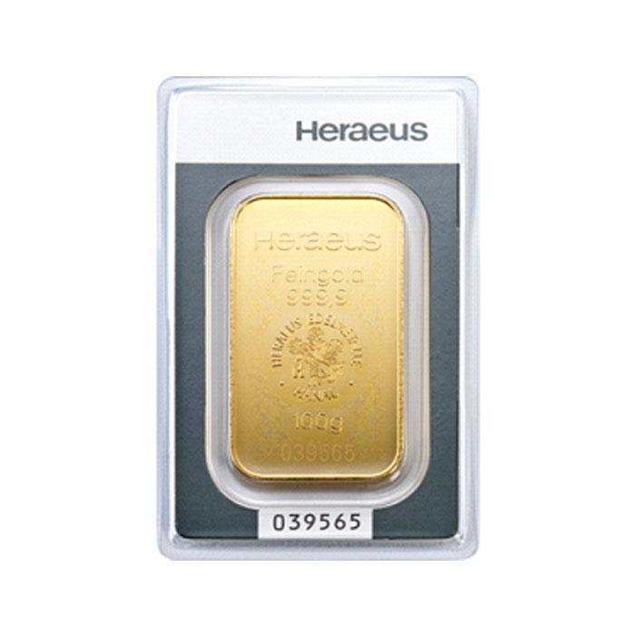 Sztabka złota bita Au9999 - 100g