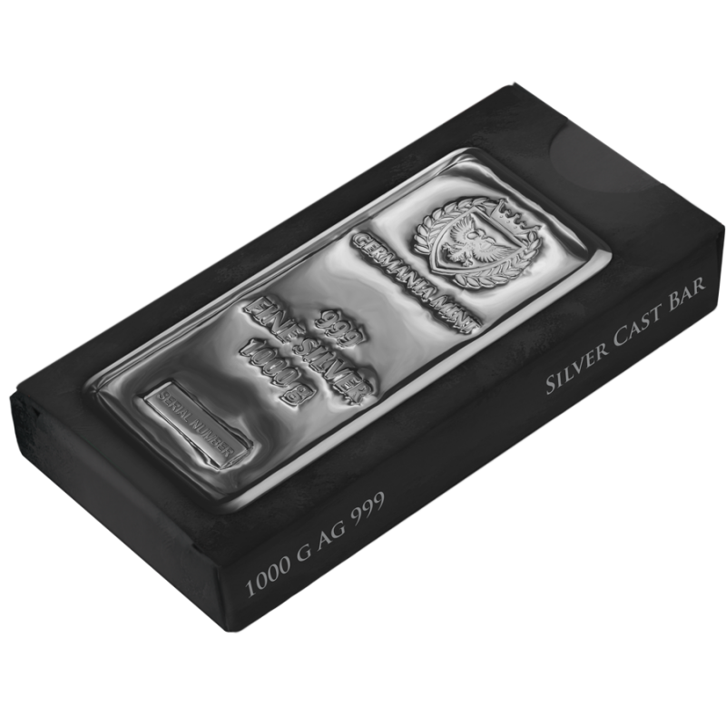 Germania Mint Silver Cast Bar 1000 G